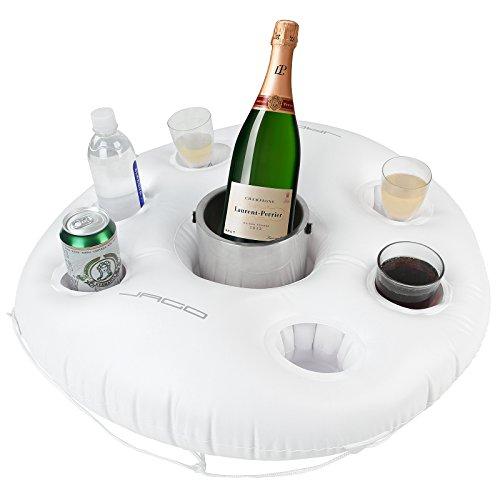 Jago Floating Beverage Holder - 6 Glass Holders + 1 Large Holder