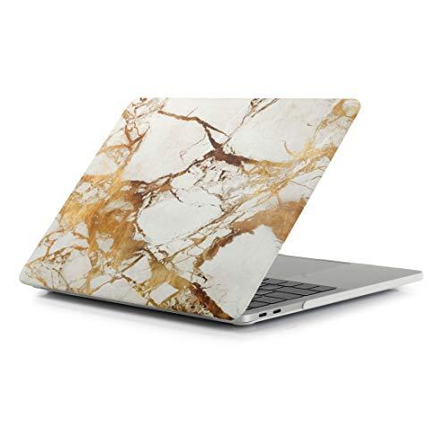 Élégant, léger et agréable Texture Beige Or blanc Motif en marbre for ordinateur portable eau Stickers PC Housse de protection for MacBook Pro A1990 15,4 pouces (2018), Tous les boutons et les ports s