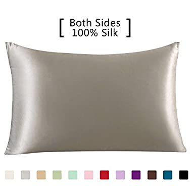 YANIBEST 19 Momme 100% Pure Natural Mulberry Silk Pillowcase for Hair & Facial