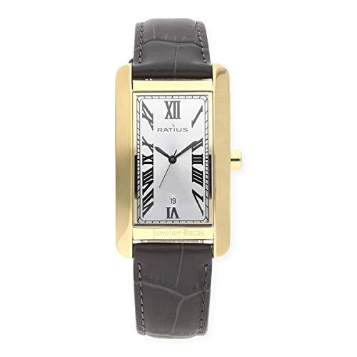 Ratius Herren Uhr 22.3105G.25 vergoldet Leder