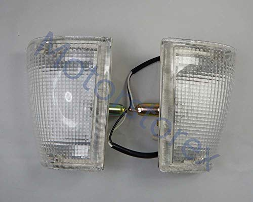 MotorStorex - Front Corner Side Light Turn Signal Lamp Clear Lens Left and Right for 1985-1998 Mazda Magnum B2000 B2200 B2600 Pickup UTE Truck