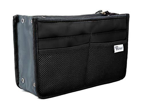 Periea Handtaschen-Organizer - Chelsy - 28 Farben erhältlich - Klein, Mittel & Groß (Schwarz, Groß)