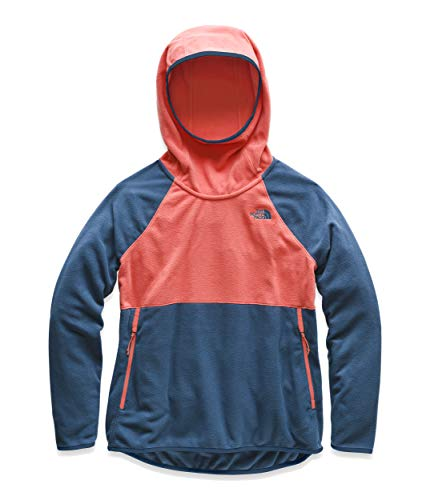 The North Face Women's Glacier Alpine Pullover, Spiced Coral/Blue Wing Teal, Size S