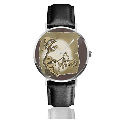 Relojes Anolog Negocio Cuarzo Cuero de PU Amable Relojes de Pulsera Wrist Watches Momia