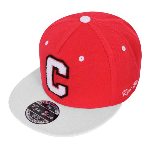 Raw Blue Letterpatch-Snapback C in Red / White