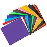 AIEX 30 x 25 cm Hojas de Paquete de Vinilo de Transferencia de Calor para Camisetas, Sombreros, Compatible con la Sublimación de la Máquina de Prensa de Calor Cricut Cameo (17 Colores)