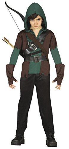 Guirca Kostüm 5–6Jahre Bogenschütze Robin, U (85704.0)