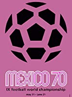 ERZAN 知育玩具200ピースパズル1970 FIFAワールドカップサッカーメキシコメキシコスポーツ旅行広告家の装飾