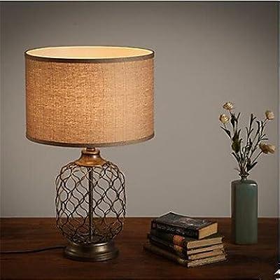 Tisch Leuchte Wohn Zimmer Lese Textil Schalter Lampe Paris Design natur antik