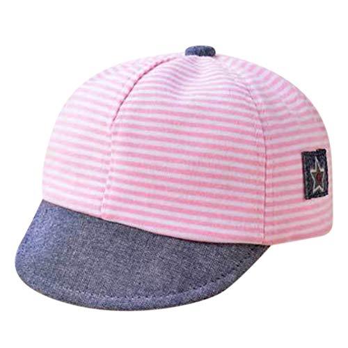 Unisex Kinder Baseball-Kappen Jungen Mädchen Baseballcap Snapback Cap Anti-UV Hut Sonnenhut Einstellbare Sommer Mütze Mode Kleinkinderhut für Outdoor (Rosa)