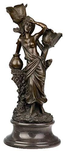 Desktop-Skulptur Bronze mädchen statue klassische dame statuette beleuchtung kerzenhalter skulptur innen dekoration zubehör outdoor garten kunst dekoration