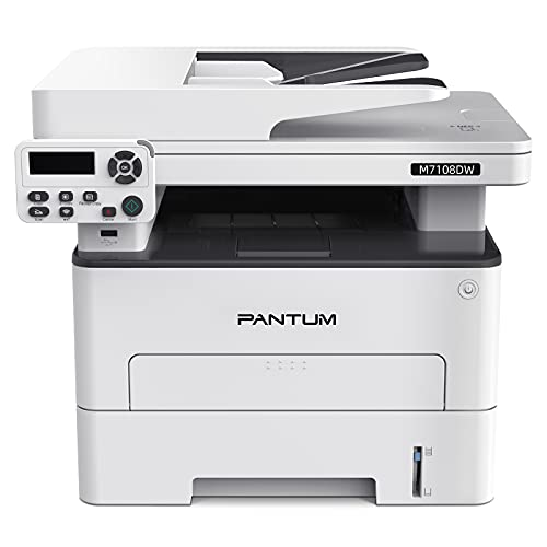Stampante Laser Multifunzione Copia Stampa Scansione Bianco Nero Wireless con Stampa fronte retro Automatica Pantum M7108DW