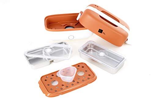 Miji Cookingbox One (1 Liter) - mobiler Mini Dampfgarer & Warmhaltebehälter, ideal als kleiner Reiskocher oder zum Essen aufwärmen - sehr leicht, platzsparend & geruchsfrei