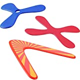 Tatuo Set of 3 Returning Boomerang, Wood Boomerangs and Soft Boomerang for Athletes, for Sports Game Toy to Beginners, Young Throwers (Suit for Child Over 12 and Playing with Parent's Supervision)