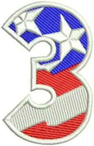 Sturgis-Mid-West 3 Numeric Symbol of US Flag Iron Small on Patch famous Brand new