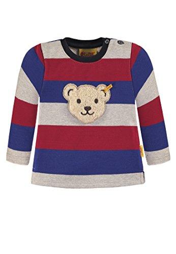 Steiff Jungen 1/1 Arm Sweatshirt, Mehrfarbig (Y/d Stripe|Multicolored 0001), 98