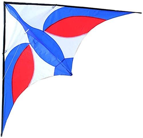 Decor Cometas, 2.5 m Power Swan Kite Sombrilla de Paraguas y Barra de Resina con Herramientas de Vuelo (Color : Blue)