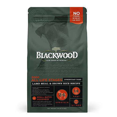 Blackwood Pet Food 22279 All Life Stages, Everyday Diet, Lamb Meal & Brown Rice Recipe, 30Lb.