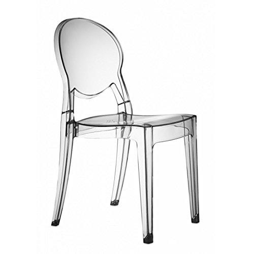 SCAB DESIGN s.p.a. Sedia Igloo Chair in policarbonato Made in Italy- Set da 2 - Trasparente