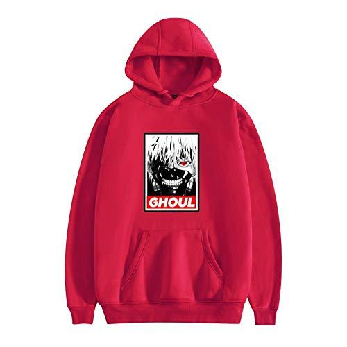 Unisex Tokyo Ghoul Kapuzenpullover Tops Fashion Hoodie Kordeltasche Pullover Hooded Sweatshirt-A_XXXXL