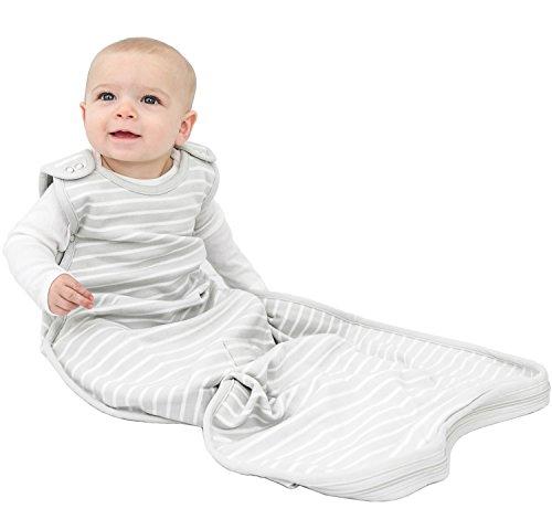 Woolino 4 Season Ultimate Baby Sleep Bag Sack - 2-24 Months Universal Size - Merino Wool - Gray