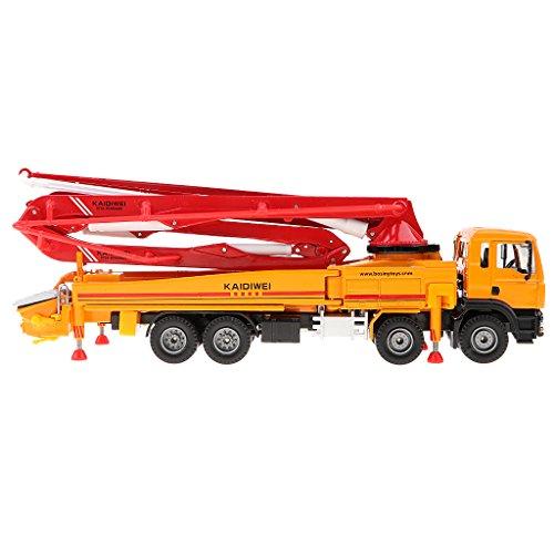 NON Sharplace Juguete Camión Bomba Vehículo Pump Car 1/50 Escala - naranja
