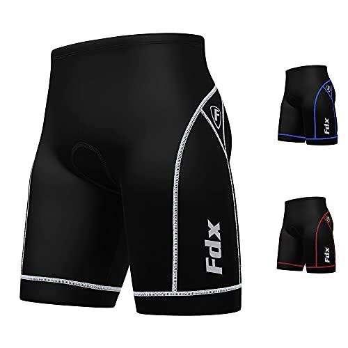 FDX Mens Quality Cycling Shorts Anti Bac Padding Outdoor Cycle Gear Tight...