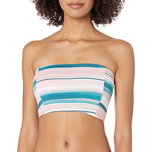 Bikini Lab Women's Midkini Bikini Swimsuit Top, Multi//Horizon Line, M
