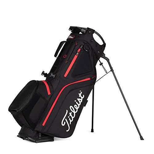 Titleist - Hybrid 5 Golf Bag - Black/Black/Red