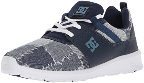 DC Women's Heathrow TX LE Skate Shoe, Blue/Blue/White, 11 B US