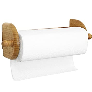 Greenco Premium Bamboo Wall Mount Paper Towel Holder