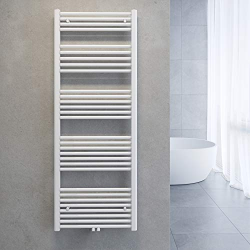 SONNI Handtuchtrockner Heizkörper Bad Mittelanschluss Handtuchwärmer Badheizkörper Weiß Gerade 60 * 160cm