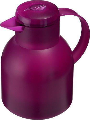 Emsa 507075 Samba Isolierkanne (1 Liter, Quick Press Verschluss, 12h heiß, 24h kalt) himbeer