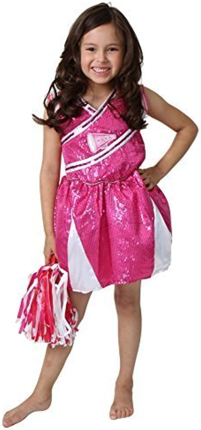 Hot Pink Cheerleader Costume Size 4 6 by Storybook Wishes