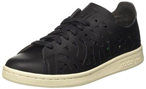 adidas Stan Smith Cutout W, Scarpe da Ginnastica Basse Donna, Nero (Core Black/Core Black/off White), 38 2/3 EU