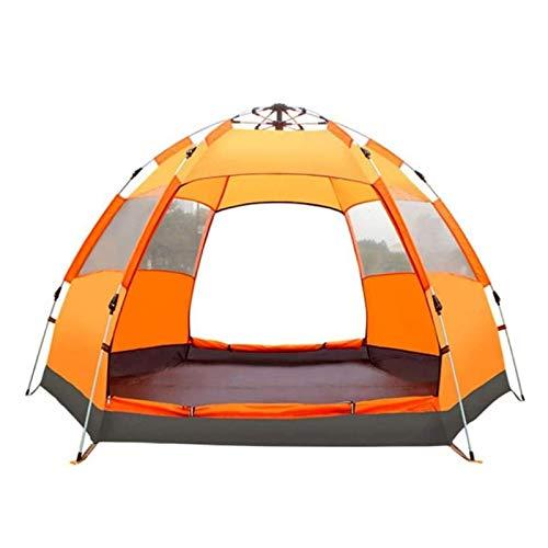 Double Couche Dôme Tente 3-4 Personne famille tente de camping, Instantané automatique Pop Up Oxford Waterproof PU3000mm 210D Matériel Groupes Familiaux taille Camp Tentes Plage ( Color : Orange )