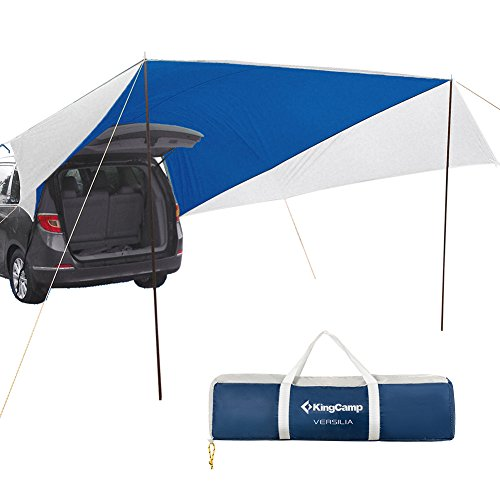 KingCamp Awning Sun Shelter XL (13' x 16') Portable Waterproof Durable Tarp Canopy Camper Trailer Tent Roof Top for Beach, SUV, Camping, Event