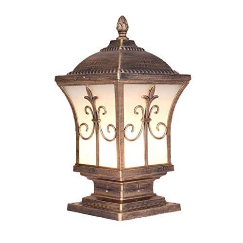 JJZXD Luces de jardín, Luces de Pilar de Puerta, Villas de jardín, Luces de Pared de Puerta Impermeable al Aire Libre, Luces de Paisaje (Color : A)