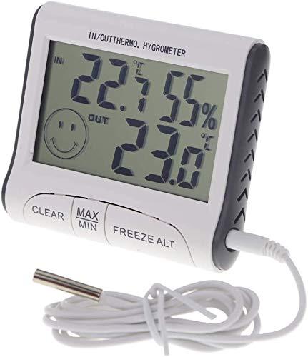 TaiCy Digitales Thermometer Hygrometer, Mini LCD Digital Indoor Thermometer Hygrometer mit Wecker