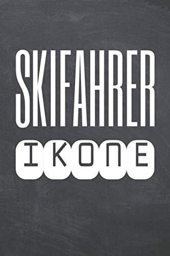 Skifahrer Ikone: Skifahrer Punktraster Notizbuch, Notizheft oder Schreibheft - 110  Seiten - Büro Equipment & Zubehör - Lustiges Geschenk zu Weihnachten oder Geburtstag
