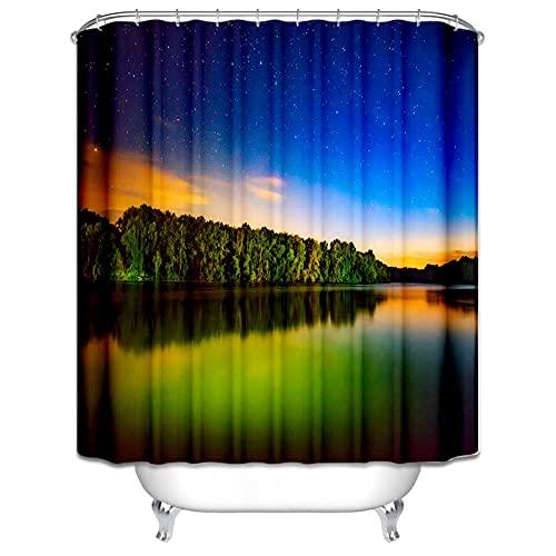 Bathroom Shower Curtain Pfirsichblüte Duschvorhang Stoff Waschbar 3D Digitaldruck Mit 180*180Cm Top Qualität Wasserdicht, Anti-Schimmel-Effekt 3D Digitaldruck Inkl. 12 Duschvorhangringe Für Bade