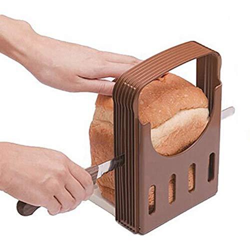 Gcroet 1pc Brotschneidemaschine Toast Fräsvorsatz Brot Toast Slicer Sandwich-Hersteller-Werkzeug Folding und Adjustable Brotschneidemaschine Nützliche Küchenhelfer