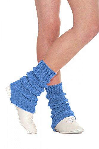 Roch Valley Leg Warmers, SLW Stirrup-Scaldamuscoli Donna, Blu Reale, 90 cm
