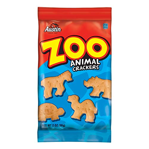 Austin, Zoo Animal Crackers, Bulk Size, 160 oz (Pack of 80, 2 oz Pouches)