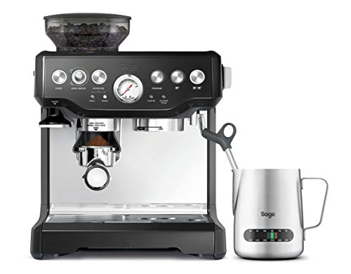 Sage Appliances SES875BKS The Barista Express Espressomaschine, 1850, Schwarz glänzend