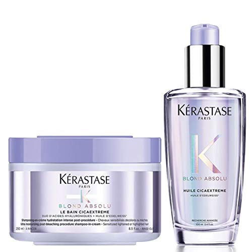 Kerastase Champú Blond Absolu Bain Cicaextreme 250ml & Blond Absolu Huile Cicaextreme 100ml Duo