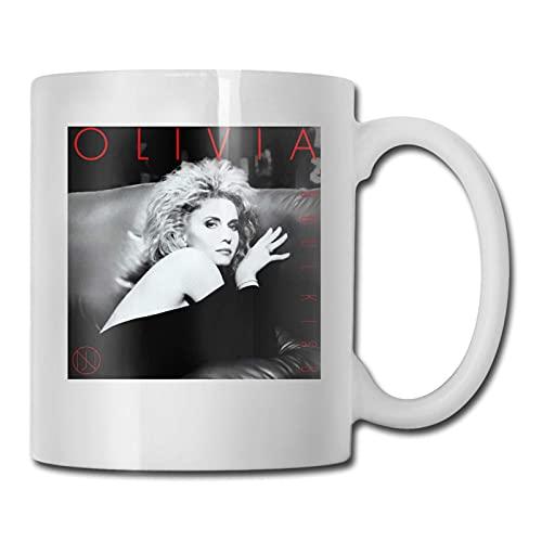 N\A Olivia Newton John Soul Kiss Moda Taza de café de cerámica diseño Hombres Mujeres Tazas Oficina hogar Blanco Talla única