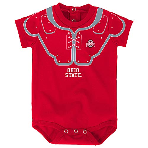 Outerstuff Ohio State Buckeyes Baby Football Fanatic Red Onesie Creeper (3-6 Months)