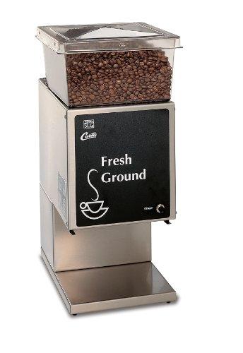 Wilbur Curtis Coffee Grinder 5.0 Lb Grinder With Single Hopper, Low Profile - Commercial Burr...