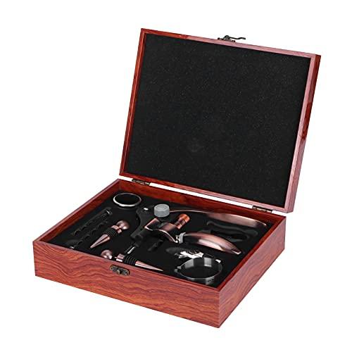 Botella de vino-9Pcs/Set Abridor de botellas de vino Vertedor de vino Sacacorchos Caja de regalo Juego de vino para uso en la cocina